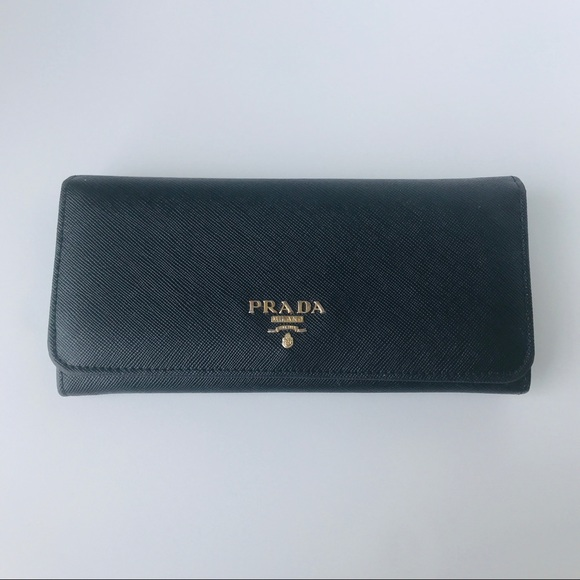 83536ae30f5ab9 Black Saffiano Leather Black Wallet. M_5b6dee1142aa76ca050a1dc0. Other Bags  you may like. PRADA Wallet Large Leather Blue Saffiano Vernic